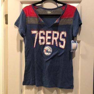 Women's 76ers basketball shirt